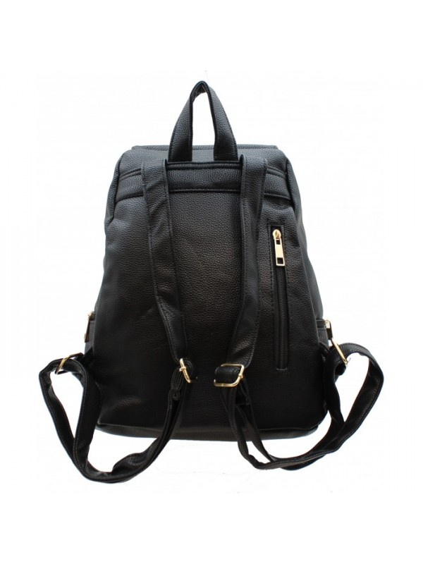 3508 - PU LEATHER MEDIUM BACKPACK (3 COLORS AVAILABLE)