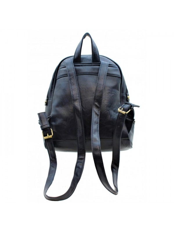 3603 - PU LEATHER MEDIUM BACKPACK (5 COLORS AVAILABLE)