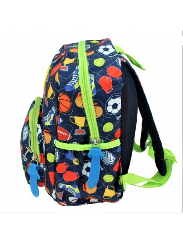 9186 - SMALL SPORTS THEME KIDS BACKPACK (3 COLORS AVAILABLE)